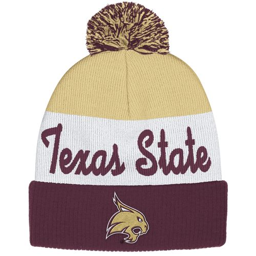 adidas™ Men's Texas State University Cuffed Pom Knit Cap