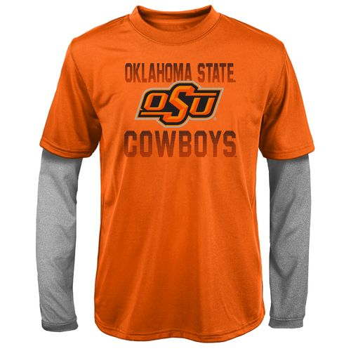 Gen2 Kids' Oklahoma State University Bleachers Double Layer Long Sleeve T-shirt