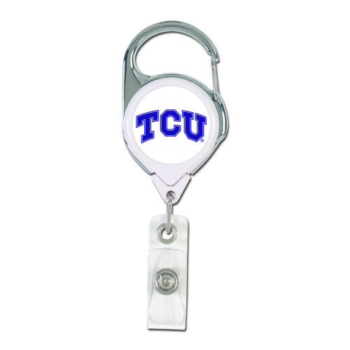WinCraft Texas Christian University Retractable Badge Holder - view number 1