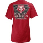 Three Squared Juniors' Arkansas State University State Monogram Anchor T-shirt