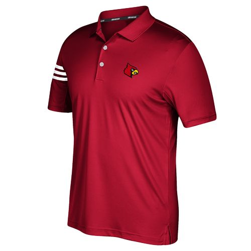 adidas™ Men's University of Louisville 3-Stripe Polo Shirt