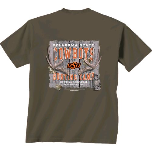 New World Graphics Men's Oklahoma State University Hunting Camp T-shirt