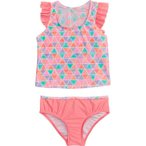 O'Rageous Kids Girls' Textured Pyramid 2-Piece Tankini Swimsuit