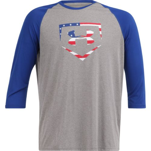 Under Armour Men's Baseball 3/4 Sleeve USA T-shirt