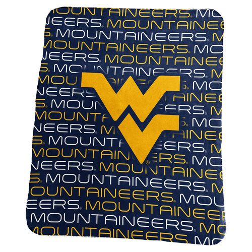 Logo West Virginia University 50 in x 60 in Classic Fleece Blanket