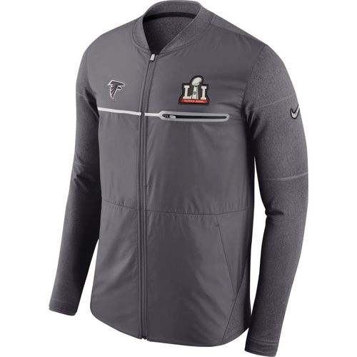 Nike Men's Atlanta Falcons Super Bowl 51 Full Zip Sideline '16 Hybrid Jacket