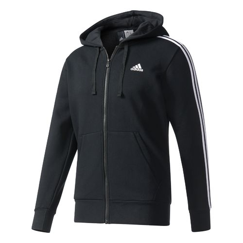 adidas Men's Essentials 3-Stripes Brushed Fleece Hoodie
