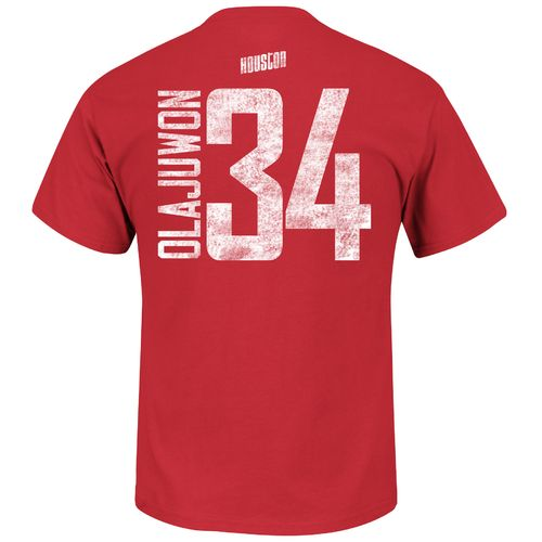 Majestic Men's Houston Rockets Hakeem Olajuwon 34 HWC Name and Number T-shirt - view number 1