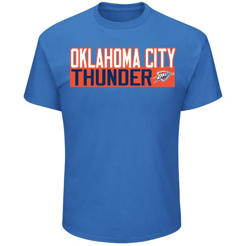 Majestic Men's Oklahoma City Thunder Russell Westbrook 0 Vertical Name and Number T-shirt - view number 2