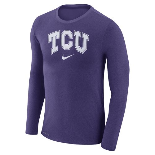 Nike™ Men's Texas Christian University Dry Marled Long Sleeve T-shirt