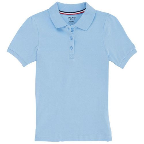 French Toast Girls' Short Sleeve Stretch Pique Polo Shirt - view number 1