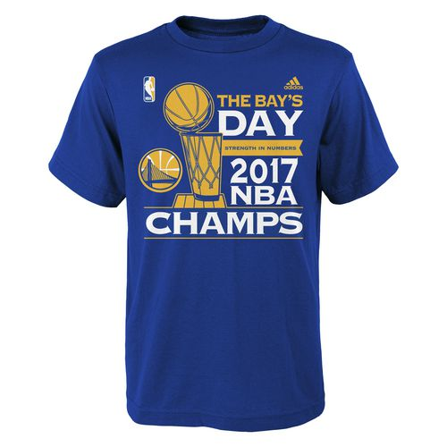 adidas Youth Golden State Warriors 2017 NBA Finals Champions Parade T-shirt