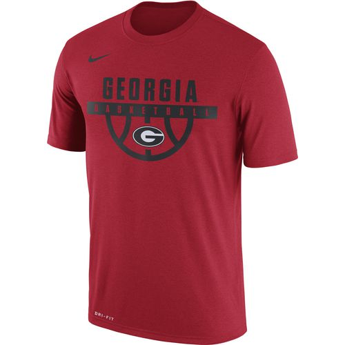 Nike Men's University of Georgia Dry Legend Basketball Short Sleeve T-shirt