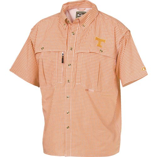 Drake Waterfowl Men's University of Tennessee Gameday Wingshooter's Short Sleeve Button-Down