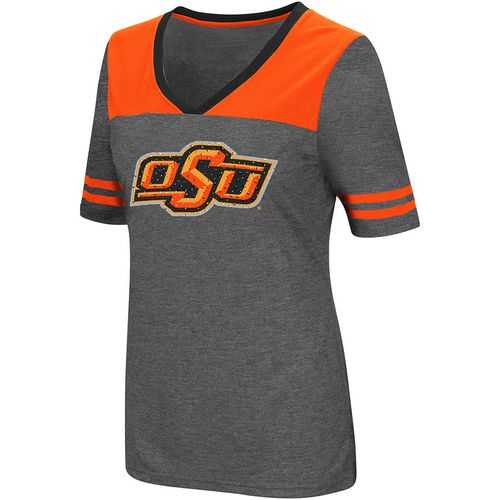 Colosseum Athletics Women's Oklahoma State University Twist V-neck 2.3 T-shirt