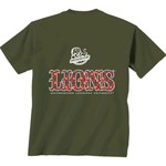New World Graphics Women's Southeastern Louisiana University Comfort Color Initial Pattern T-shi - view number 1