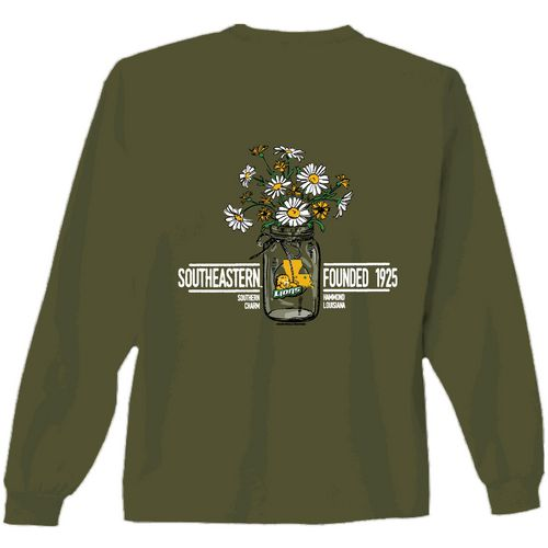 New World Graphics Women's Southeastern Louisiana University Bouquet Long Sleeve T-shirt
