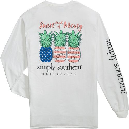 Simply Southern Women's Long Sleeve Pineapple T-shirt - view number 4