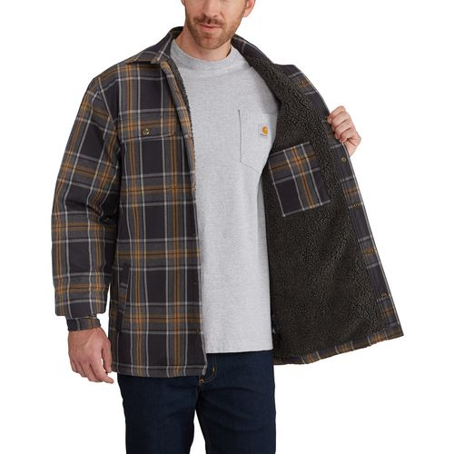 Carhartt Men's Hubbard Sherpa Lined Shirt Jac - view number 6