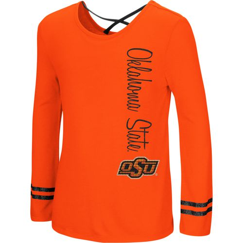 Colosseum Athletics Girls' Oklahoma State University Marks the Spot Strappy Back Long Sleeve T-shirt