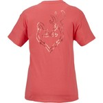 Browning Women's Classic Rose Gold Foil Buckheart T-shirt - view number 3
