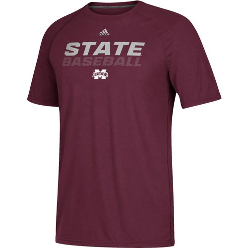 adidas Men's Mississippi State University Ultimate Bottom Baseball T-shirt