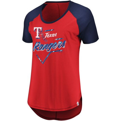Majestic Women's Texas Rangers Game Shake-Up T-shirt