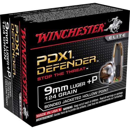 Winchester Bonded PDX1™ 9 mm Luger +P 124-Grain