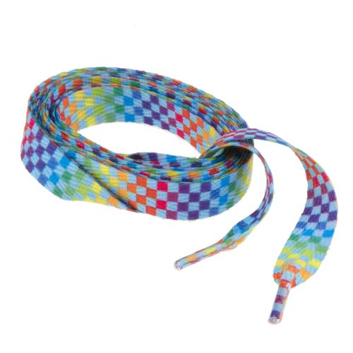 Image for Sof Sole® Rainbow Checkered Laces from Academy
