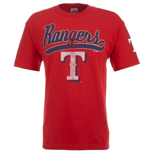 Majestic Adults' Texas Rangers Logo Galore T-shirt