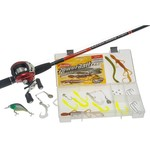 "Shakespeare® Catch More Fish 6'6"" UL Baitcast Combo"