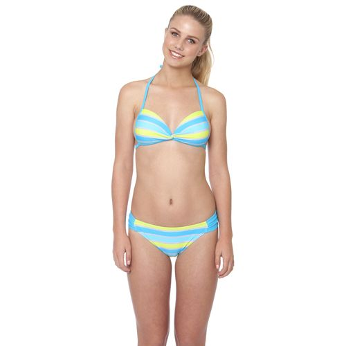 O'Rageous Juniors' Sunset Stripe Molded Bralette Top - view number 1