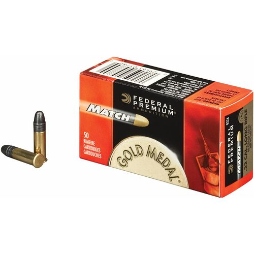 Federal Premium® Gold Medal® Solid .22 Long Rifle 40-Grain Ammunition