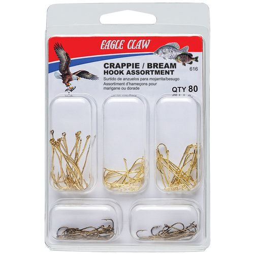Image for Eagle Claw Assorted Crappie/Bream Hooks 80-Pack from Academy