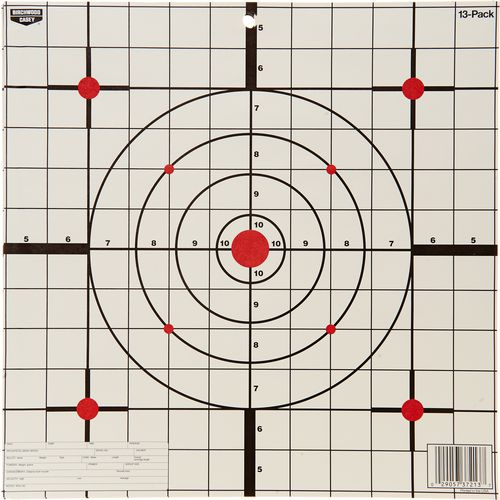 "Display product reviews for Birchwood Casey® Eze-Scorer™ 12"" Sight-In Paper Targets 13-Pack"