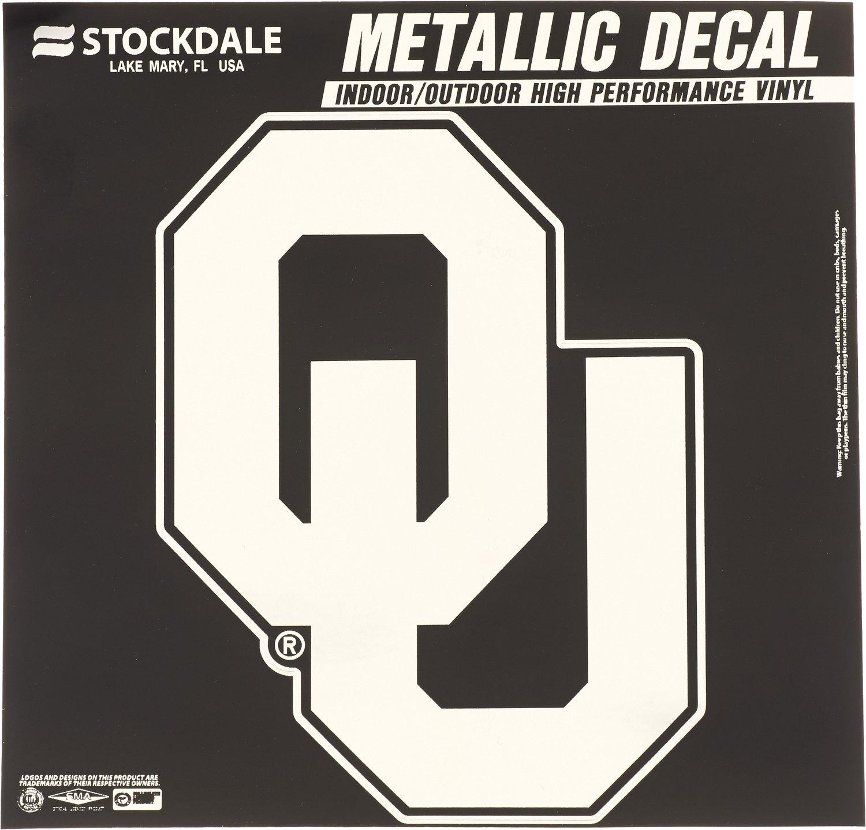 Stockdale University of Oklahoma Metallic Decal