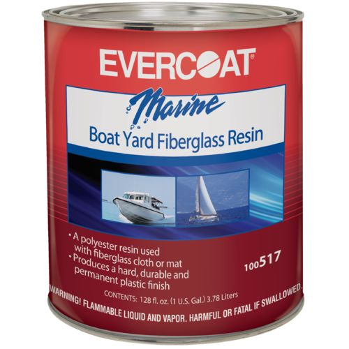 Evercoat Marine Boat Yard Fiberglass Resin with Liquid Hardener