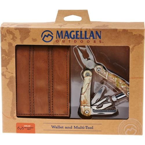 Display product reviews for Magellan Outdoors Men's Realtree Camo Slimfold Wallet with Multi-Tool