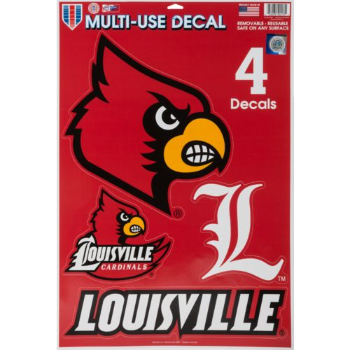 WinCraft University of Louisville Multiuse Decals 4-Pack - view number 1