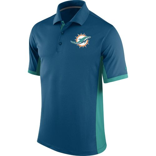 Nike men 39 s miami dolphins team issue polo shirt academy for Embroidered polo shirts miami