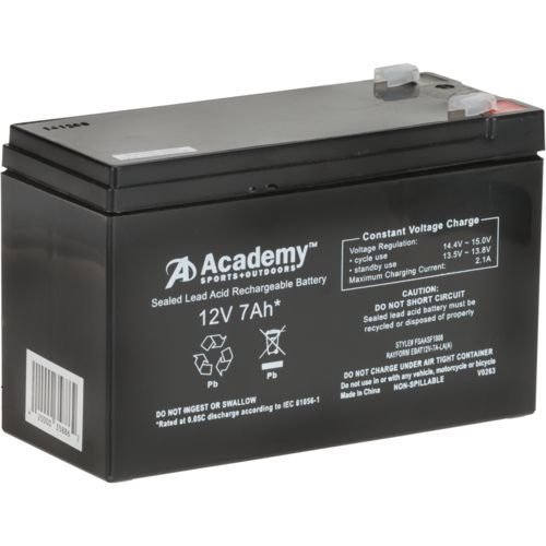 Academy Sports + Outdoors™ 12V 7 Ah Feeder Battery