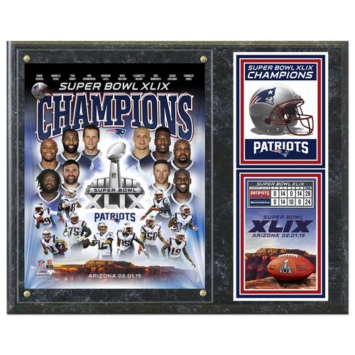 Photo File New England Patriots Championship Plaque