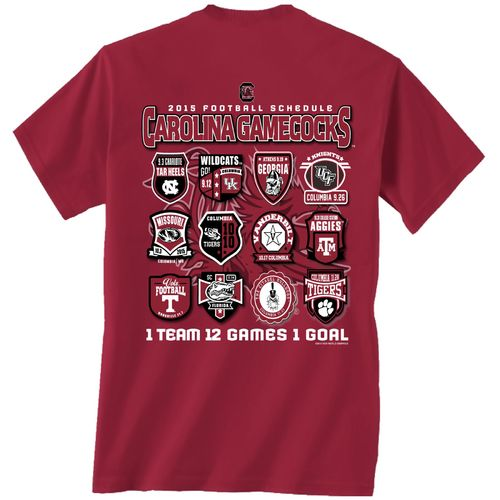 New World Graphics Men's University of South Carolina Schedule T-shirt