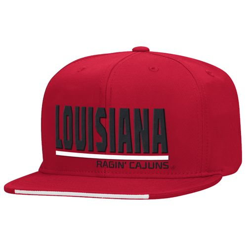 adidas™ Men's University Louisiana at Lafayette Sideline Flat Brim Snapback Cap