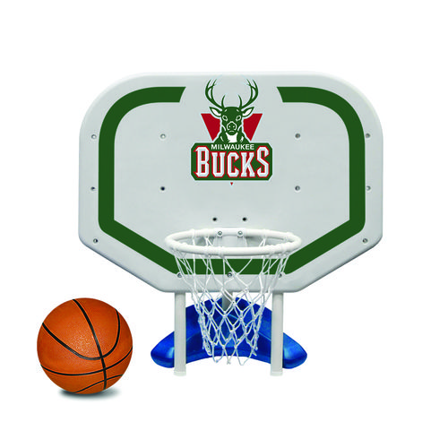 Poolmaster® Milwaukee Bucks Pro Rebounder Style Poolside Basketball Game