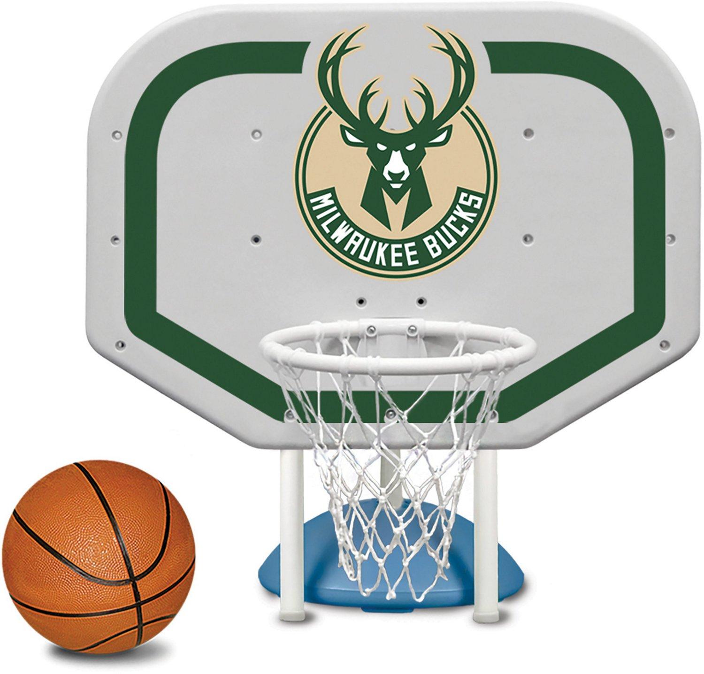 Poolmaster® Milwaukee Bucks Pro Rebounder Style Poolside Basketball Game