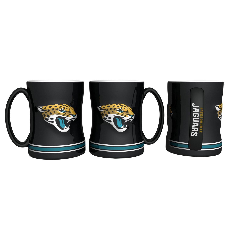 Boelter Brands Jacksonville Jaguars 14 oz. Relief-Style Coffee Mug