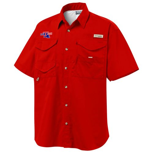 Columbia Sportswear™ Men's Louisiana Tech University Bonehead™ Short Sleeve Shirt