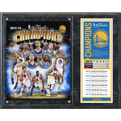 Photo File Golden State Warriors 2015 NBA Champions Composite Plaque