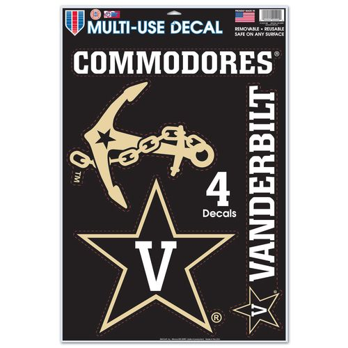 WinCraft Vanderbilt University Multiuse Decals 4-Pack